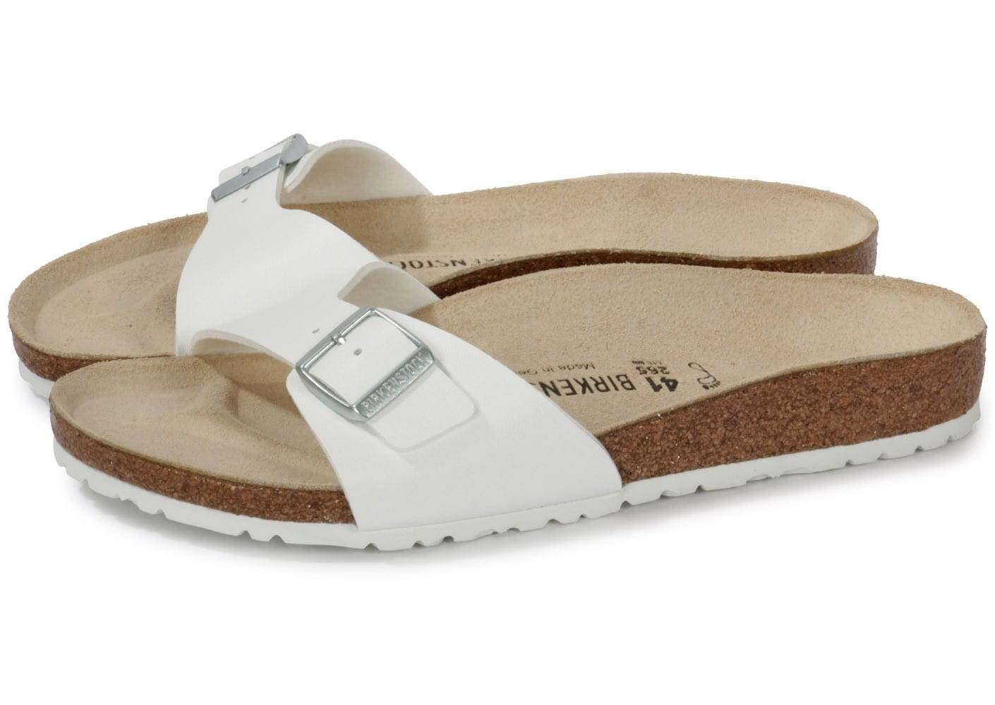 birkenstock madrid blanche chaussures homme chausport. Black Bedroom Furniture Sets. Home Design Ideas