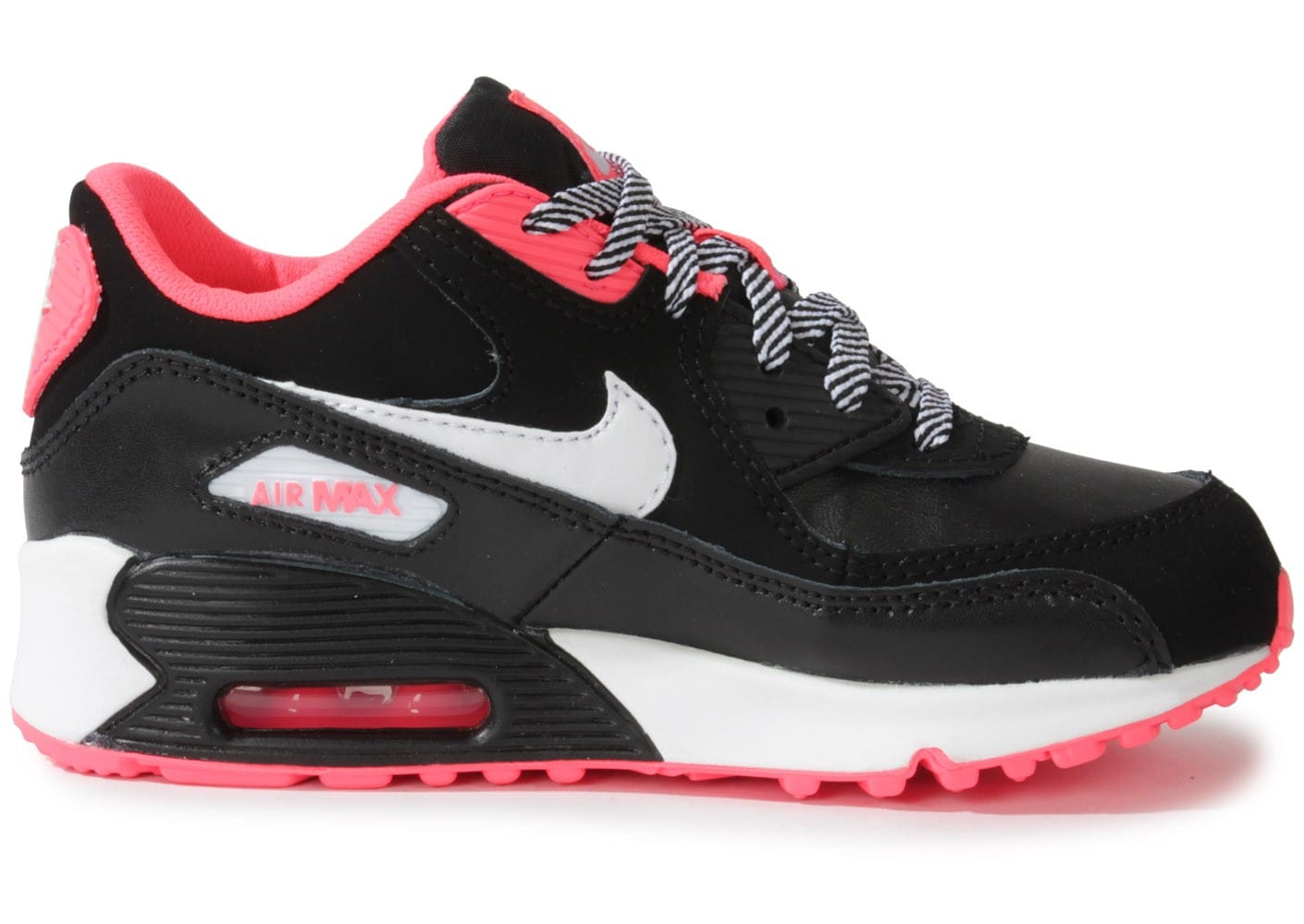 nike air max 90 enfant noir rose chaussures chaussures chausport. Black Bedroom Furniture Sets. Home Design Ideas