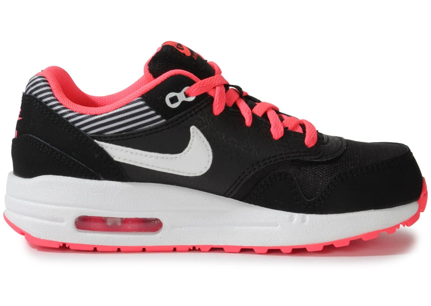 nike air max 1 enfant noire rose chaussures chaussures chausport. Black Bedroom Furniture Sets. Home Design Ideas