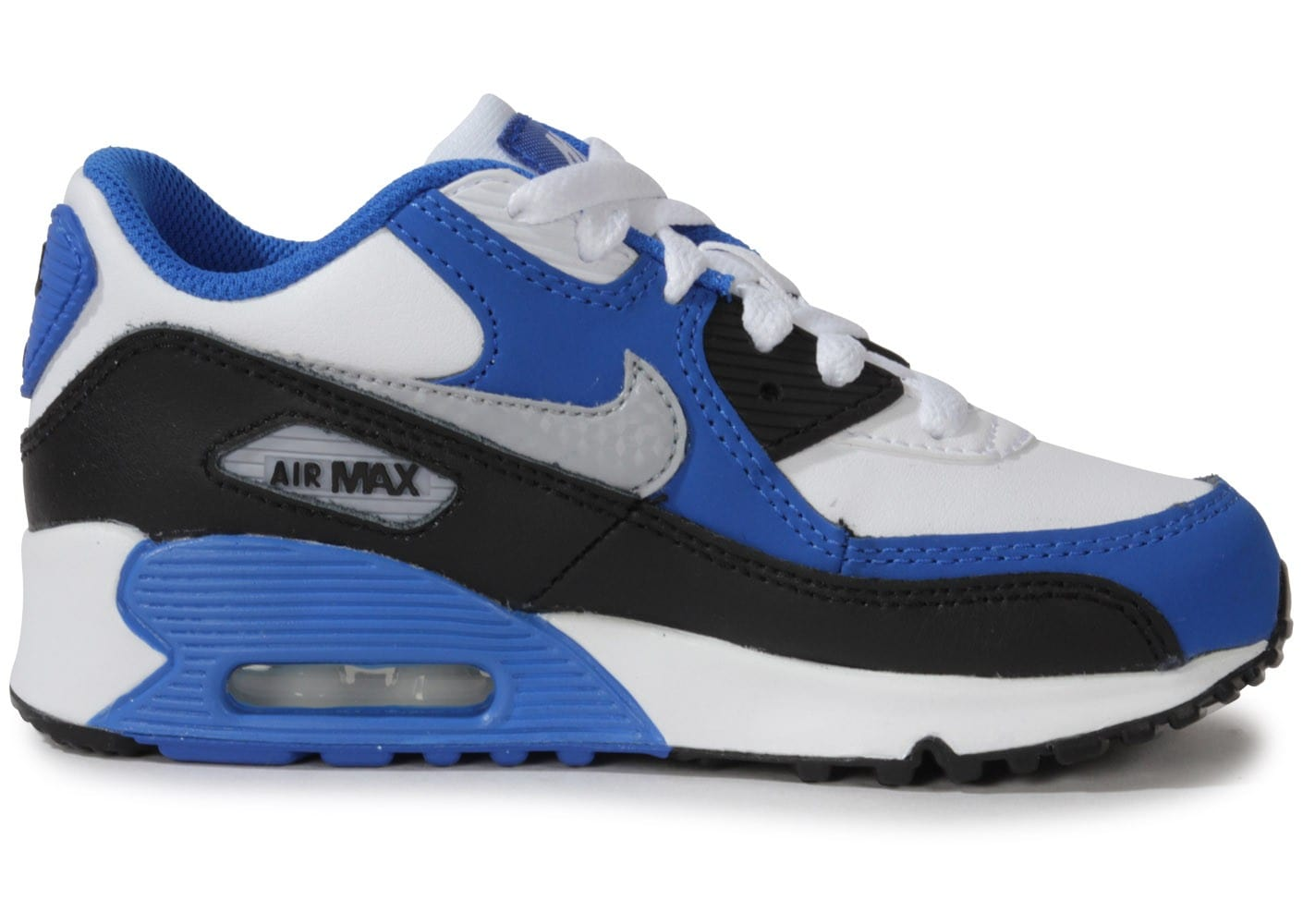 nike air max 90 enfant blanche et bleue chaussures chaussures chausport. Black Bedroom Furniture Sets. Home Design Ideas