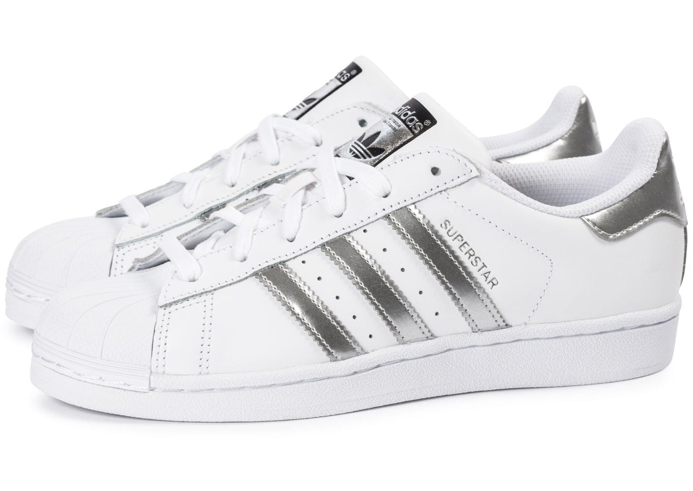 adidas superstar blanc argent chaussures adidas chausport. Black Bedroom Furniture Sets. Home Design Ideas