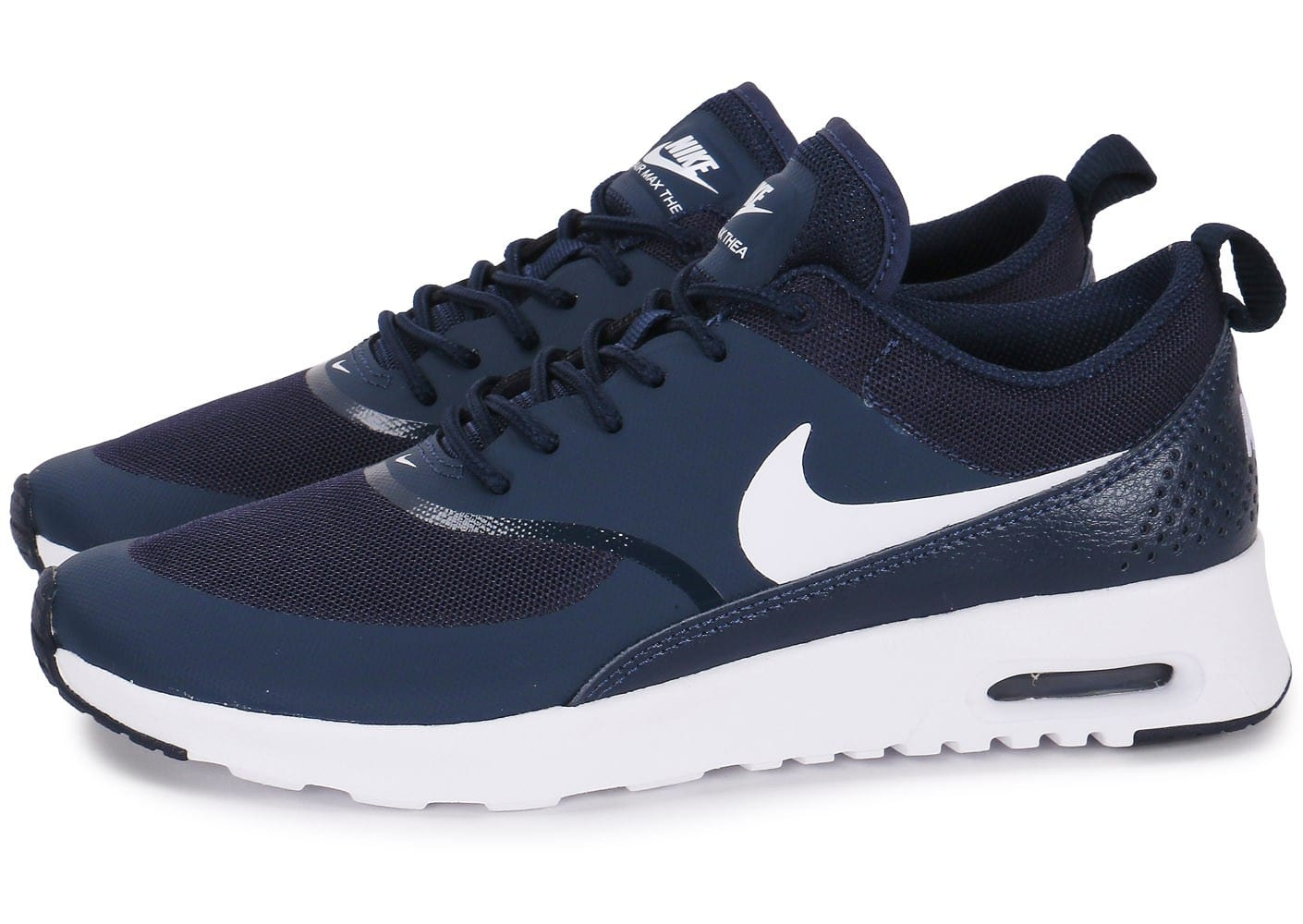 soldes nike air max thea bleu marine chaussures toutes les baskets sold es chausport. Black Bedroom Furniture Sets. Home Design Ideas