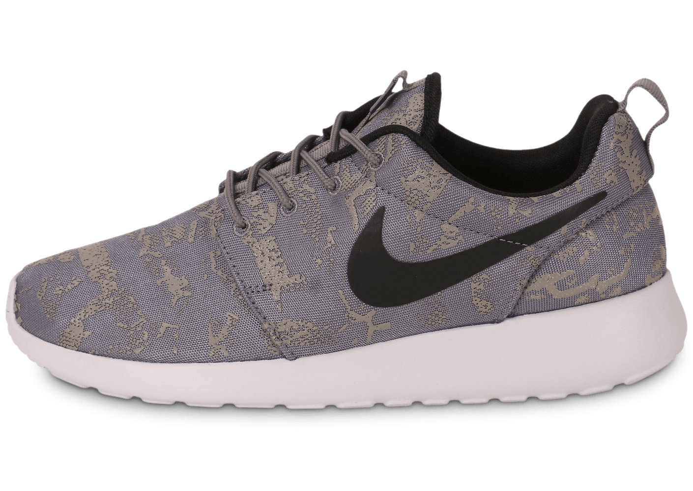 nike roshe one print grise chaussures chaussures chausport. Black Bedroom Furniture Sets. Home Design Ideas