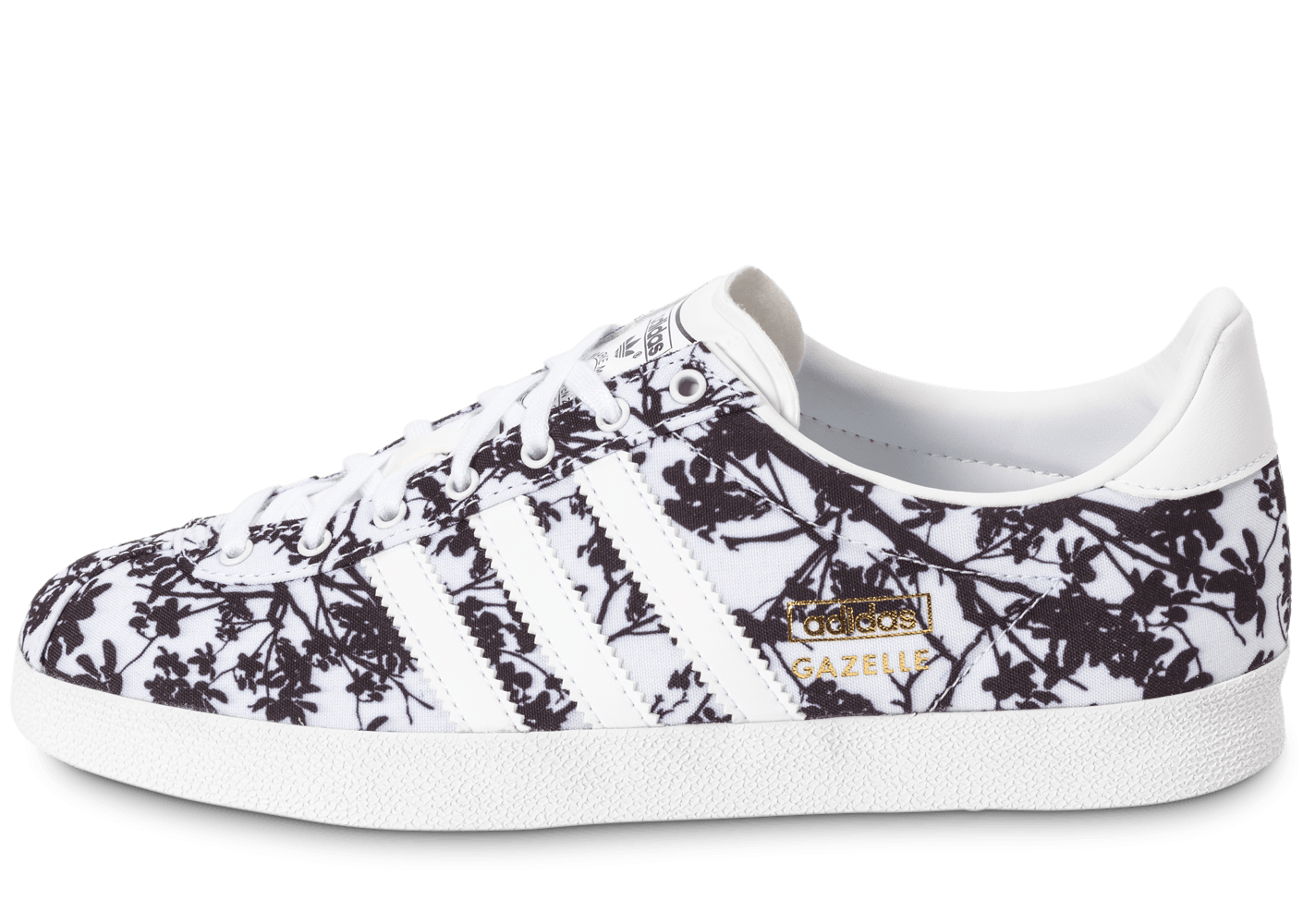 adidas gazelle og floral blanche et noire chaussures adidas chausport. Black Bedroom Furniture Sets. Home Design Ideas
