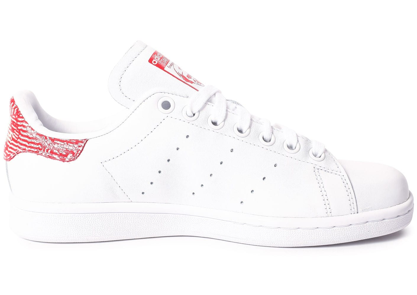 Chaussures adidas Stan Smith Collegiate rouge vue dessous