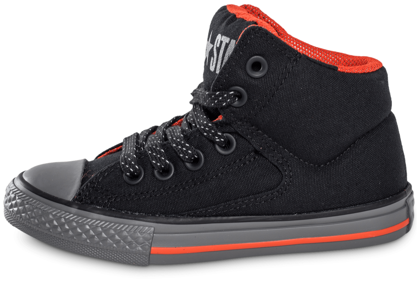 converse chuck taylor all star street mid enfant noire chaussures chaussures chausport. Black Bedroom Furniture Sets. Home Design Ideas