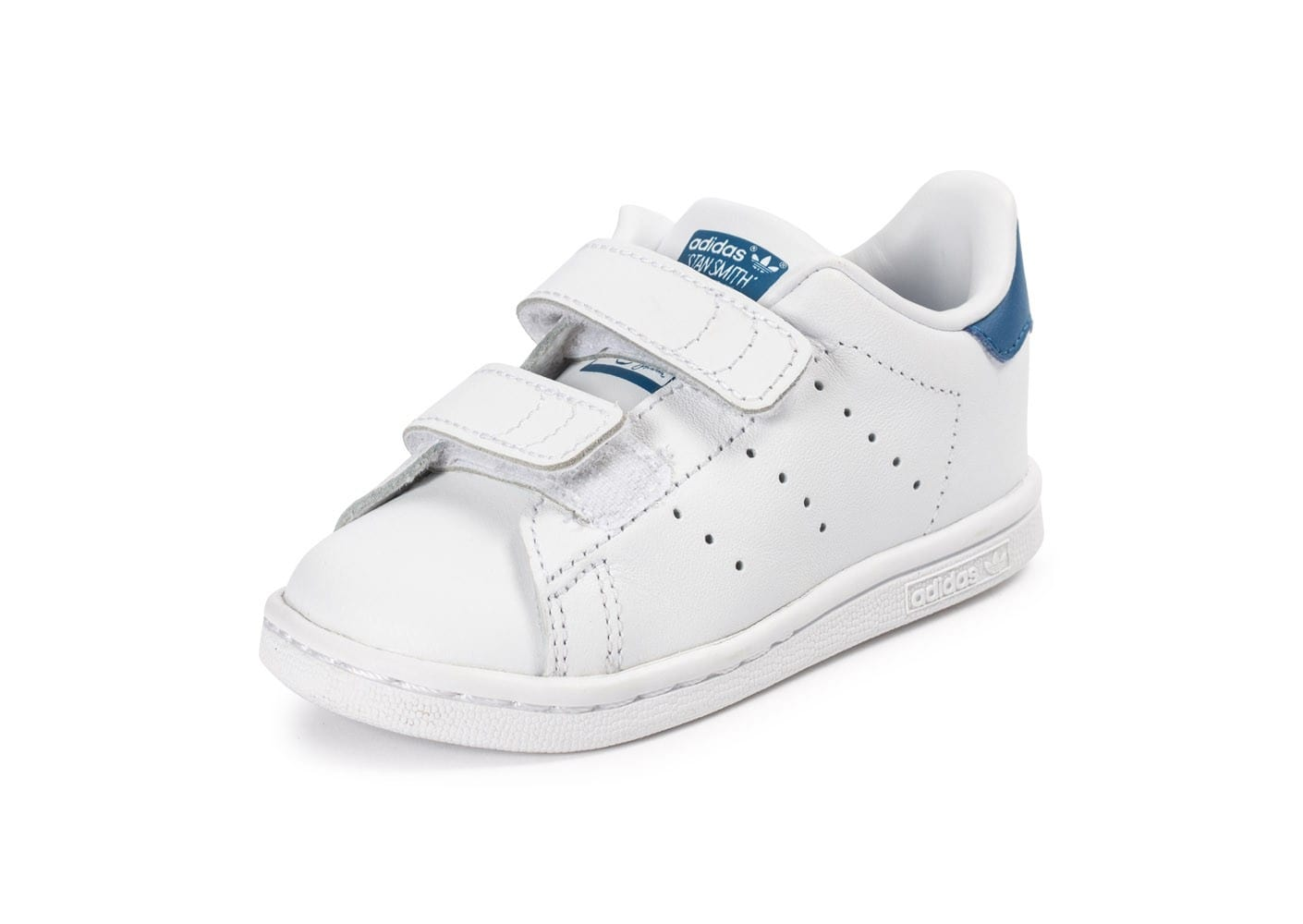 adidas stan smith b b blanche et bleue chaussures adidas chausport. Black Bedroom Furniture Sets. Home Design Ideas
