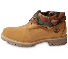 Chaussures Timberland 6-INCH ICON ROLL-TOP CAMO BEIGE