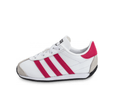 Chaussures adidas Country OG Bébé blanche et rose