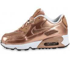 Chaussures Nike Air Max 90 SE Enfant Metallic Bronze