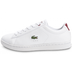 Chaussures Lacoste Carnaby EVO Croc blanche et rouge
