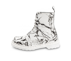 Chaussures Dr Martens Pascal Marbre blanche