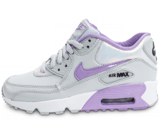 Chaussures Nike Air Max 90 SE Leather grise et mauve