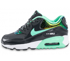 Chaussures Nike Air Max 90 SE Leather gris vert