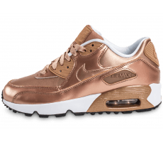 Chaussures Nike Air Max 90 SE Leather Metallic Bronze
