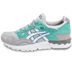 Chaussures Asics Gel Lyte V grise et turquoise