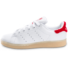 Chaussures adidas Stan Smith Wool blanche et rouge