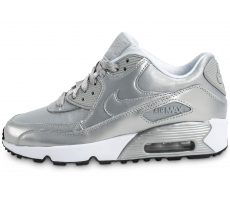 Chaussures Nike Air Max 90 SE Leather silver pack