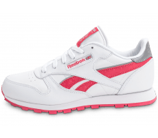 Chaussures Reebok Classic Leather Reflect Junior blanche et rose