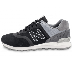 Chaussures New Balance 574 Re-Engineered Suede noire