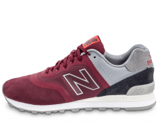 Chaussures New Balance 574 Re-Engineered Suede bordeaux