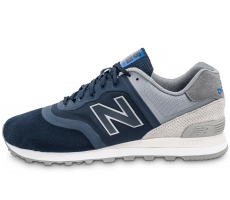 Chaussures New Balance 574 Re-Engineered Suede bleu marine