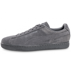 Chaussures Puma Suède Classic Casual Emboss grise