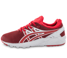 Chaussures Asics Gel Kayano Trainer Evo rouge et blanche