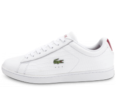 Chaussures Lacoste Carnaby Evo Croc blanche bordeaux