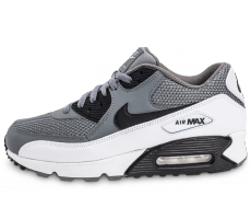 Chaussures Nike Air Max 90 Essential grise et blanche