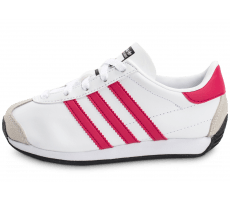 Chaussures adidas Country OG Enfant blanche et rose