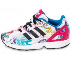 Chaussures adidas ZX Flux Print Enfant blanche