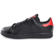 Chaussures adidas Stan Smith serpent noir et rouge