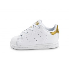 Chaussures adidas Stan Smith Bébé blanche et or