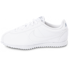 Chaussures Nike Cortez Leather Enfant blanche