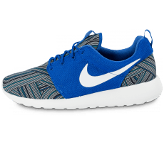 Chaussures Nike Roshe One Print bleue