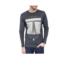 Textiles Jack & Jones T-Shirt Manches Longues Lee gris