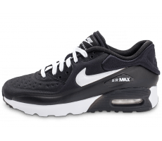 Chaussures Nike Air Max 90 Ultra Essential Junior noire et blanche