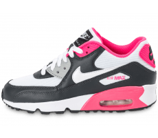 Chaussures Nike Air Max 90 Mesh Junior grise et rose