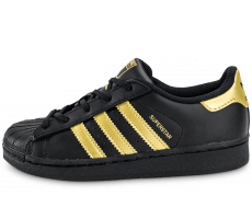 Chaussures adidas Superstar Enfant Black Gold