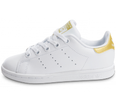 Chaussures adidas Stan Smith Enfant blanche et or