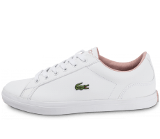 Chaussures Lacoste Lerond Perf blanche et rose