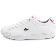 Chaussures Lacoste Carnaby EVO blanche et rose