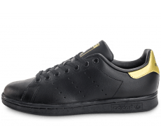 Chaussures adidas Stan Smith Junior noire et or