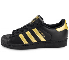Chaussures adidas Superstar Junior Black Gold
