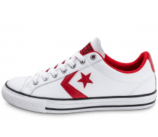 Chaussures Converse Star Player Ev Ox Junior blanche et rouge