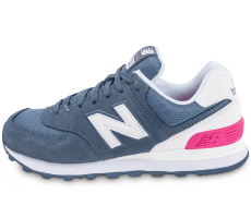 Chaussures New Balance WL574CNB Suede bleue
