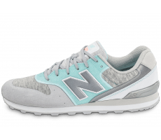 Chaussures New Balance WR996NOB Suede grise et turquoise