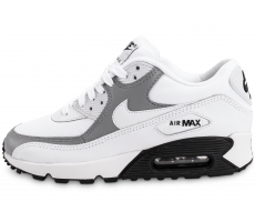 Chaussures Nike Air Max 90 Mesh Junior blanche