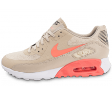 Chaussures Nike Air Max 90 Ultra 2.0 beige et rose